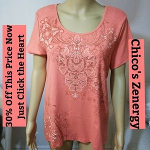 Zenergy, Cotton Top with Crystals Sz 14